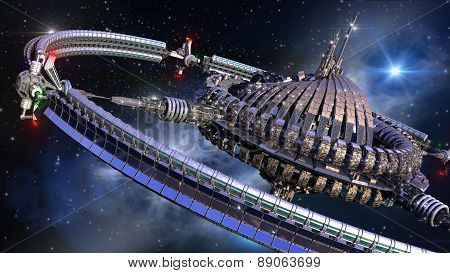 Spaceship wheel in interstellar travel