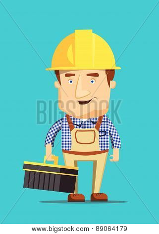 Electrical maintenance technician worker human job illustration