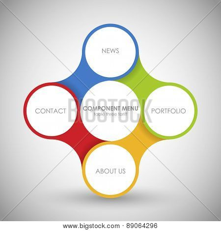 Business concept with 4 options, parts, steps or processes. Template for diagram, graph, presentation and chart. Web design. One two three four - vector paper progress steps for business