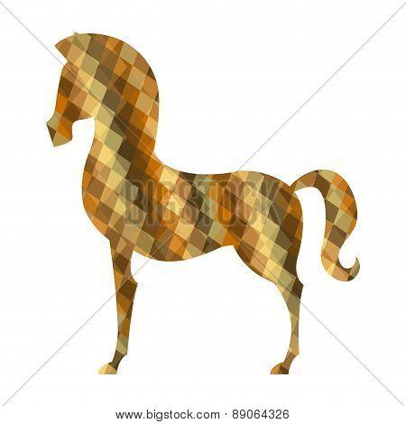 horse design over white background vector illustration