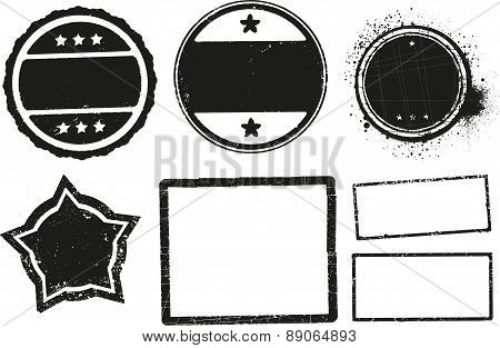 Big Set Of Grunge Rubber Stamps Templates