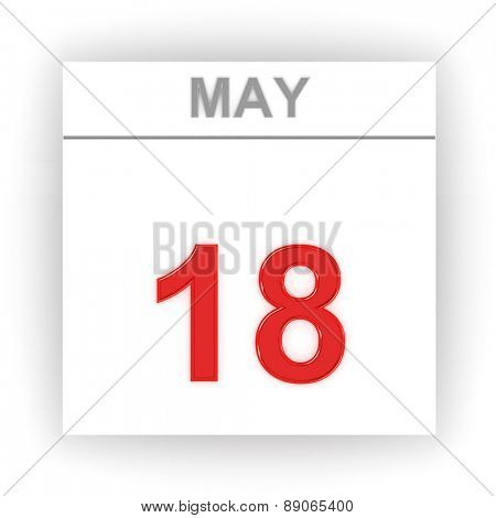 May 18. Day on the calendar. 3d