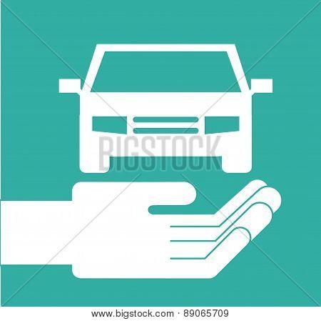 insurance design over green  background vector illustration