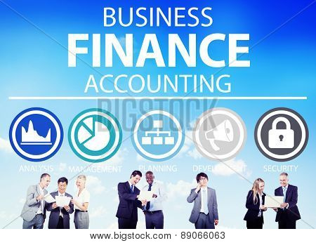 Business Accounting Financial Analysis Management Concept