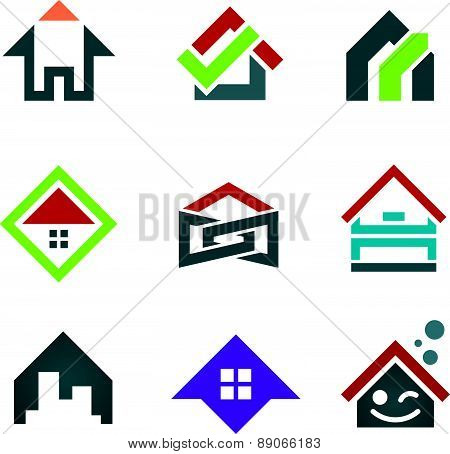 My beautiful sweet home icon set family locator