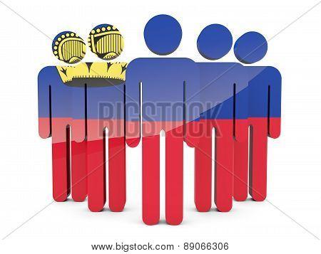 People With Flag Of Liechtenstein