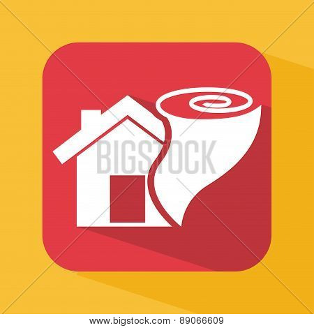 insurance design over  yellow background vector illustration