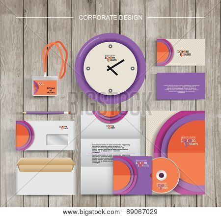 corporate identity template design