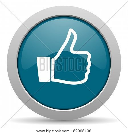 thumbs up blue glossy web icon