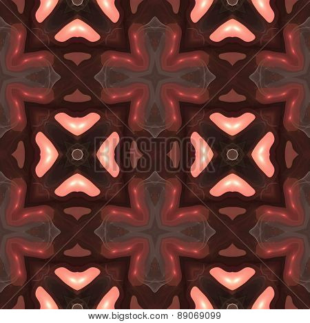 Seamless Kaleidoscope Texture Or Pattern In Brown Spectrum 4