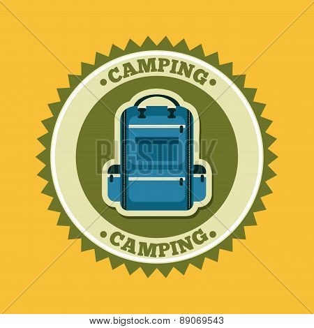 camping design over yellow background vector illustration