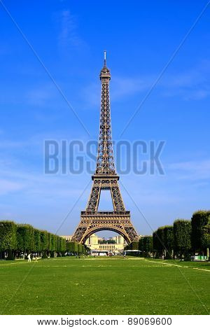 Eiffel Tower from Champ de Mars, Paris, France