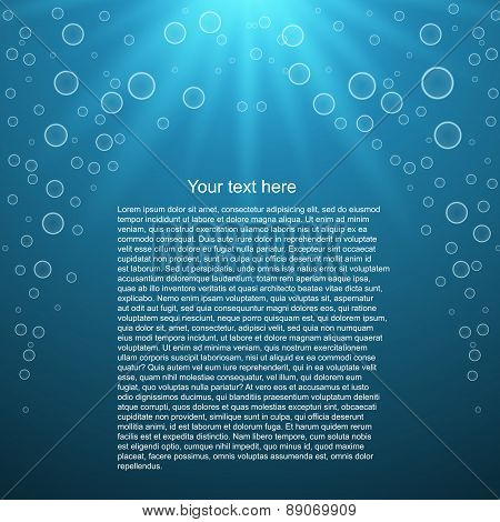 Water Background With Space For Text. Vector Illustration
