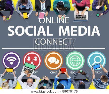 Online Social Media Connect Network Internet Concept