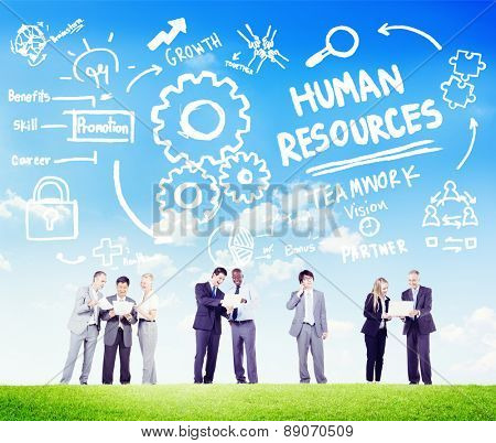 Human Resources Employment Teamwork Business People Communication Concept