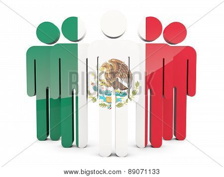People With Flag Of Mexico