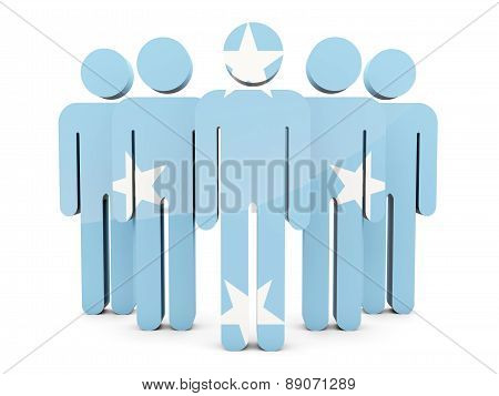 People With Flag Of Micronesia