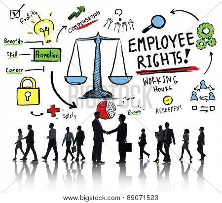 Employee Rights Employment Equality Job Business Handshake Concept