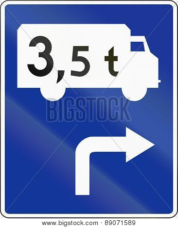 Route For Lorries In Poland