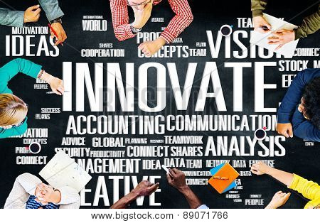 Innovate Ideas Inspiration Invention Creativity Concept