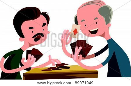 People playing poker vector illustration cartoon character