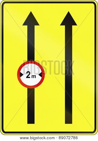 Narrow Left Lane In Poland