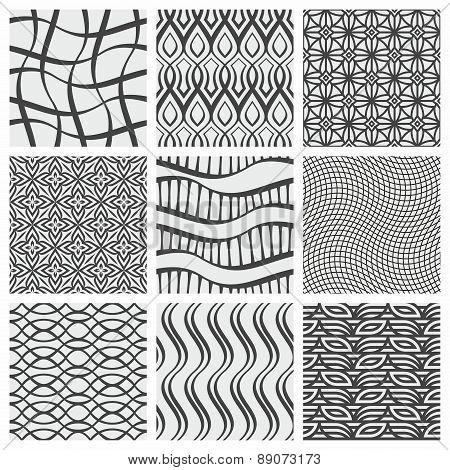 Set of nine geometrical patterns