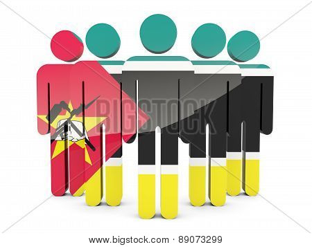 People With Flag Of Mozambique