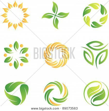 nature loop logos and icons template