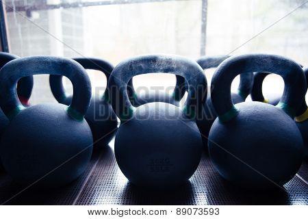 Closeup image of a kettle balls