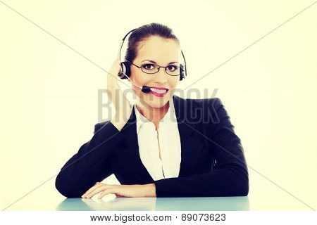 Woman working as a consultant