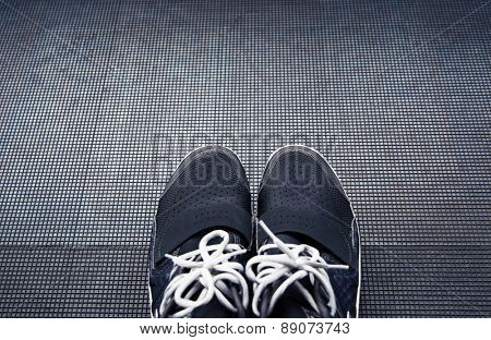 Closeup image of a crossfit sneakers