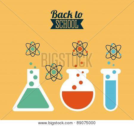 school design over  yellow background vector illustration