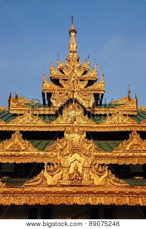 Roof Of Building Around Shwedagon Pagoda
