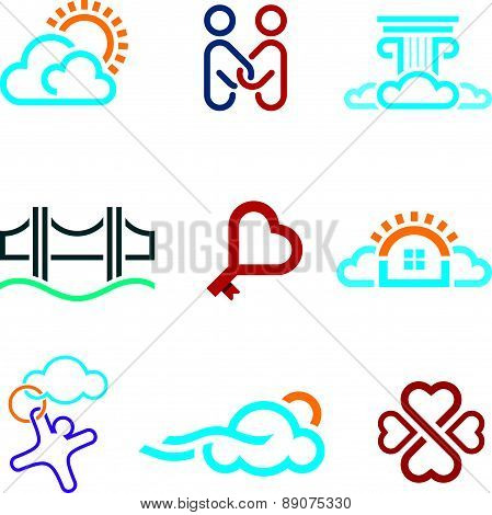 Creative puzzle edit future IT software  technology development company logo