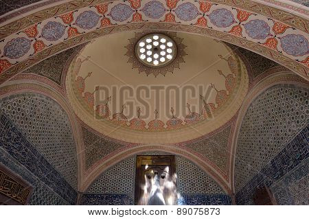 Interior of the Topkapi Palace, Istanbul, Turkey.