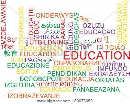 Background concept wordcloud multilanguage international many language illustration of education