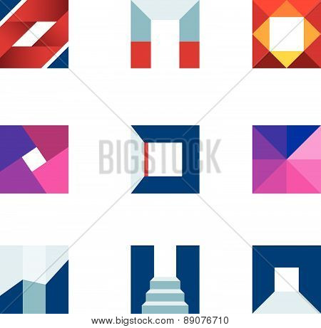 Geometric cube polygons creating walking to success professional logo icon