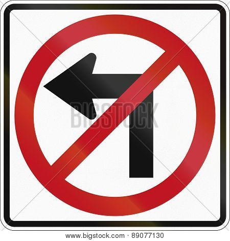 No Left Turn In Canada