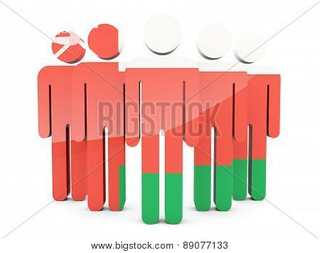 People With Flag Of Oman