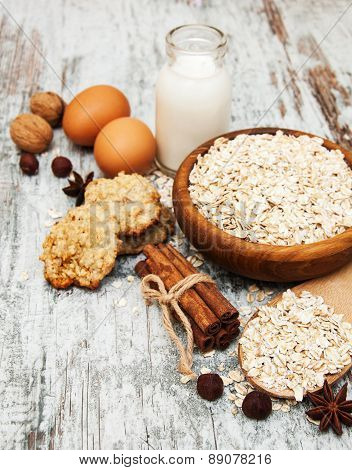 Ingredients For Making Oatmeal Cookies