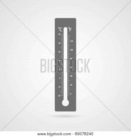 Vector Thermometer Icon.