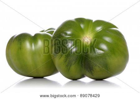 Studio shot of tomatoes on white background