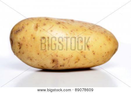 Close-up of potato on white background