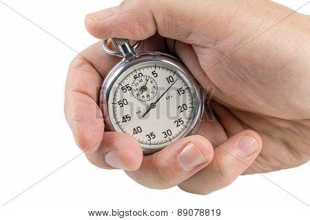 Stopwatch In Hand.