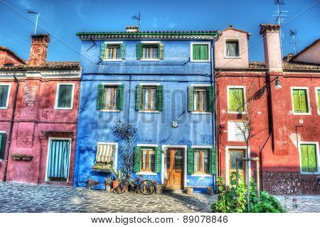 Colorful Facades In Burano