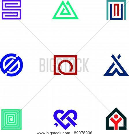 Professional business logo icon set digital age office package