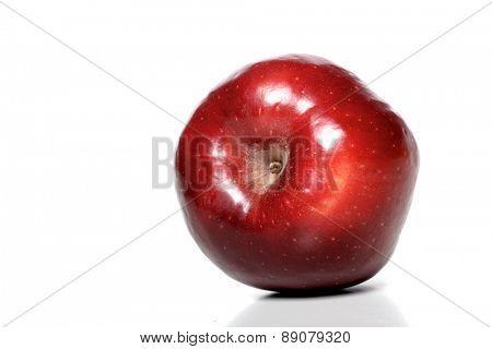 Studio soht of red apple on white background