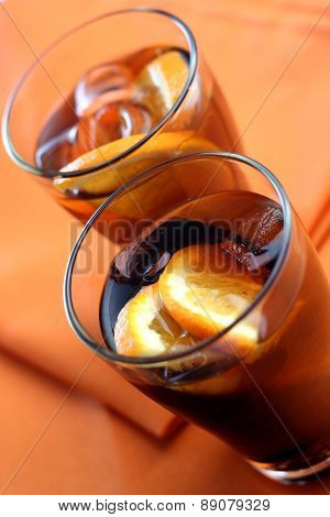 Close up of cola drink