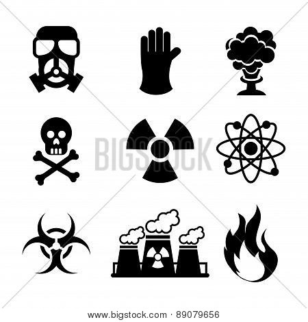 danger zone symbols over blue background vector illustration
